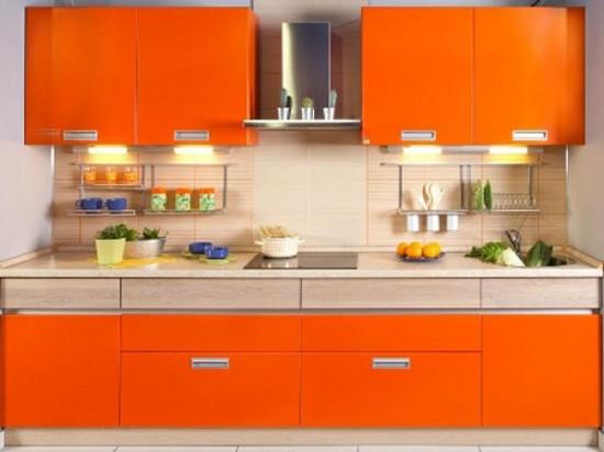 фото оранжевой кухни (1)