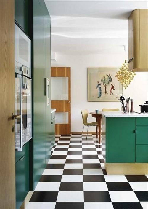 кухня зеленого цвета фото (19)