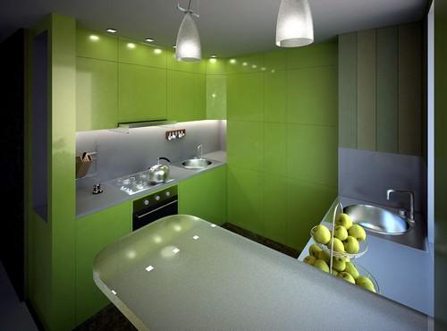 кухня зеленого цвета фото (17)