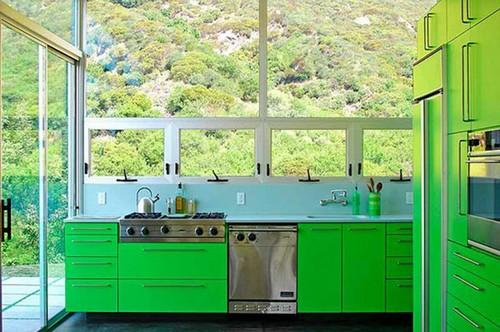 кухня зеленого цвета фото (16)