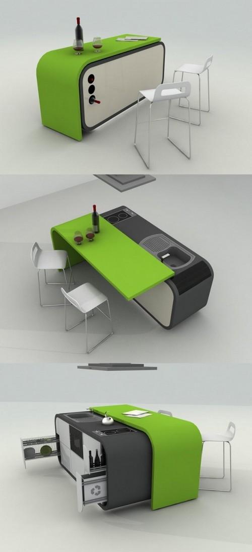 кухня зеленого цвета фото (14)