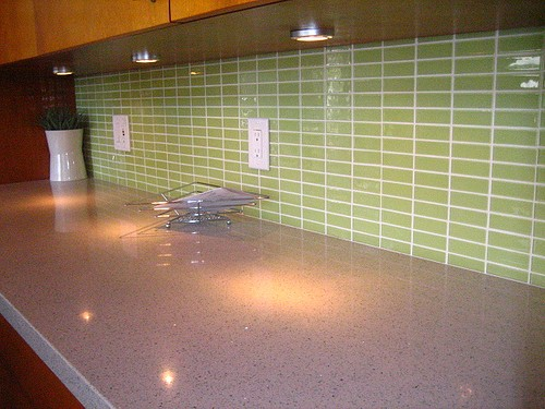 кухня зеленого цвета фото (12)