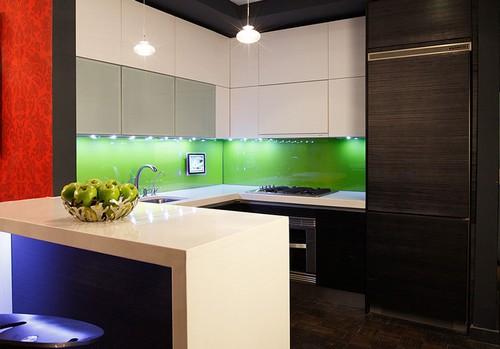 кухня зеленого цвета фото (11)