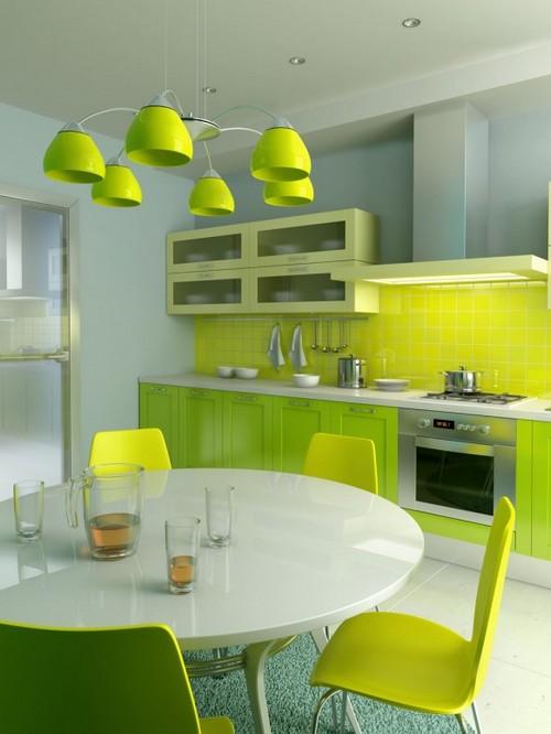 кухня зеленого цвета фото (10)