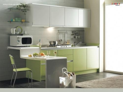 кухня зеленого цвета фото (9)