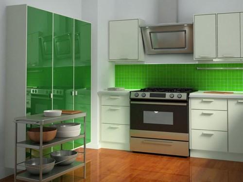 кухня зеленого цвета фото (8)