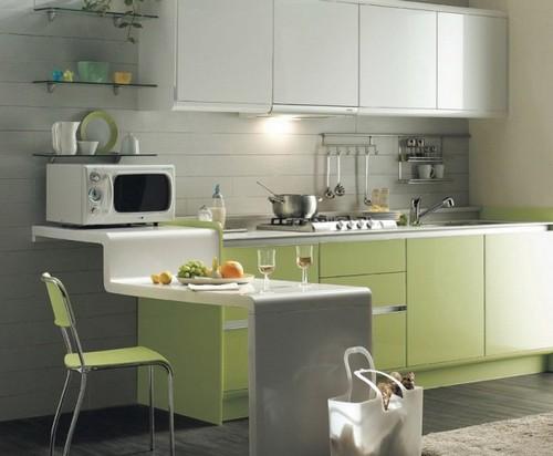 кухня зеленого цвета фото (7)