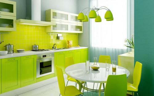 кухня зеленого цвета фото (6)