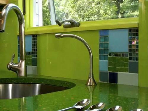 кухня зеленого цвета фото (5)