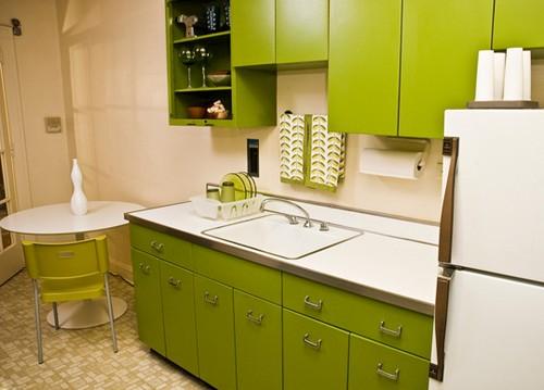 кухня зеленого цвета фото (3)