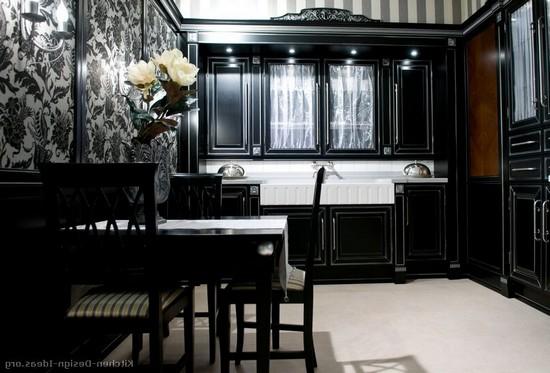 черные кухни на фото