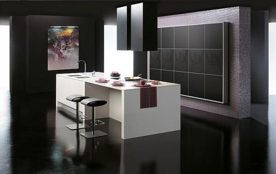 бело-черные кухни на фото