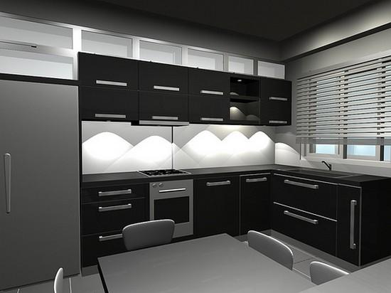 Черная кухня в интерьере
