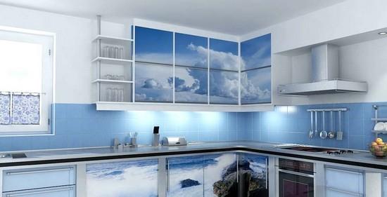 голубая кухня на фото