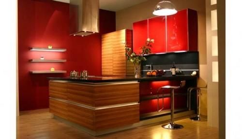 красная кухня хай тек