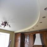 Натяжной потолок на кухне своими руками