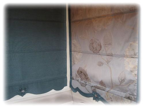 плотные римские шторы для кухни