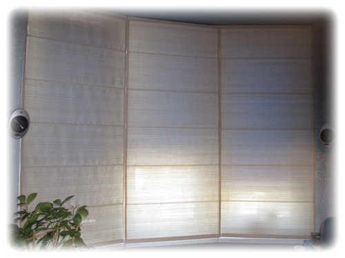 белые плотные шторы