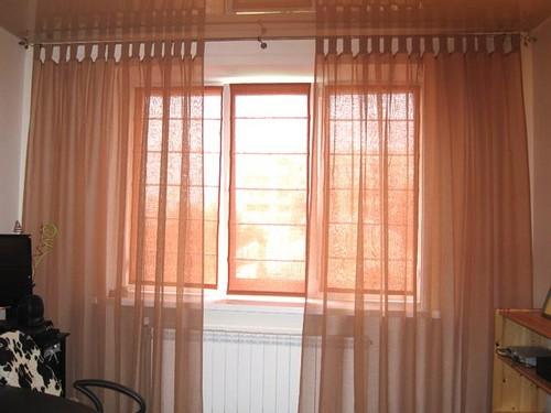 прозрачные шторы римские