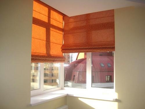 угловые римские шторы