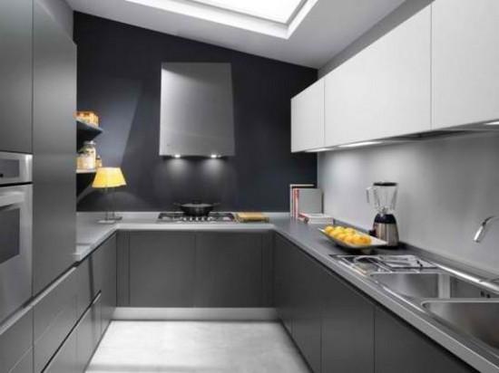 дизайн серой кухни