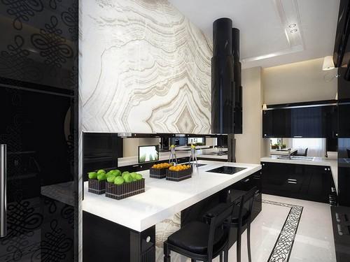 фото белой плитки на кухне