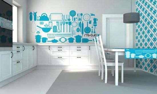 фотообои на стене в кухне