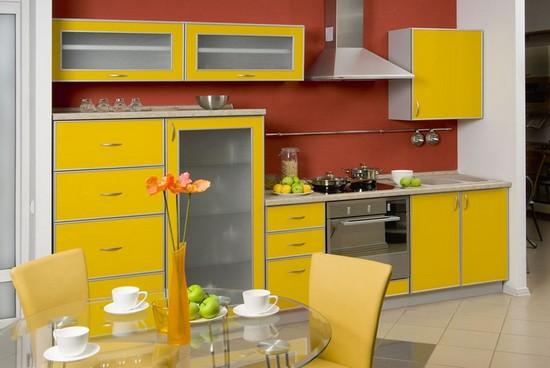 кухни желтого цвета на фото
