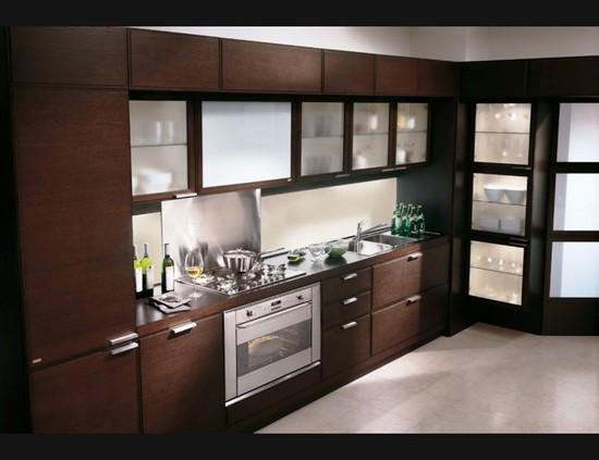 кухни шоколадного цвета