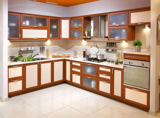 на фото коричневая кухня