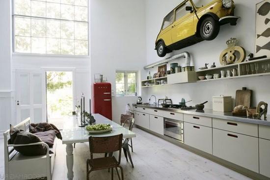 кухни в стиле ретро на фото