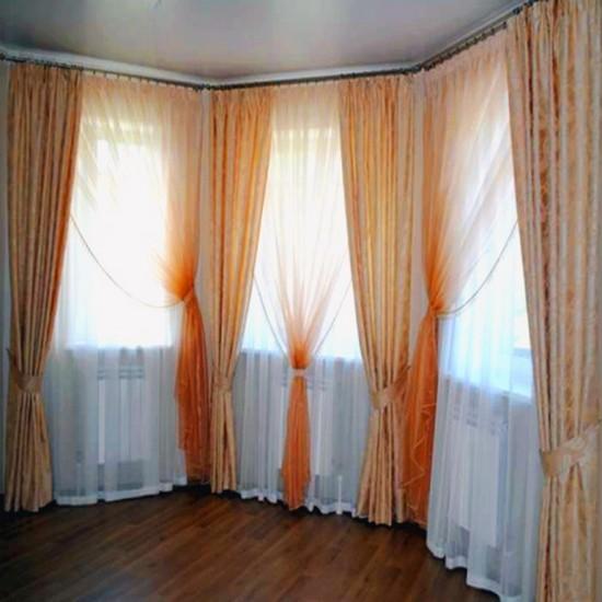 шторы с эркером