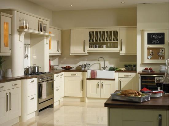 фото кухни ванильного цвета