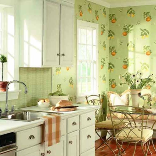 фото виниловые обои для кухни