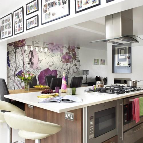виниловые обои для кухни фото