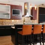 Где разместить телевизор на кухне?