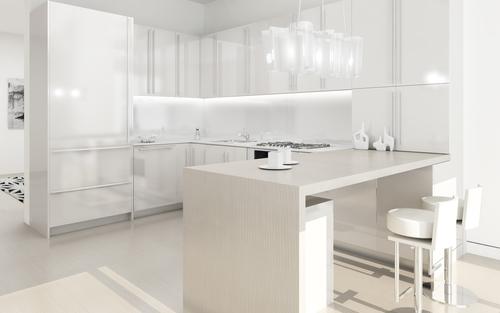 фото обои под белую кухню