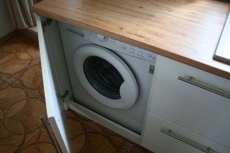 фото стиральная машина на кухне
