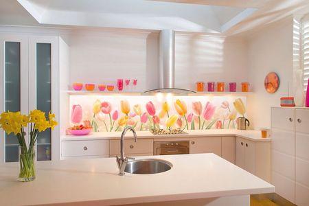 Фартуки для кухни фото цветы