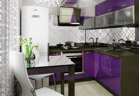 Дизайн кухни 4 на 2.5
