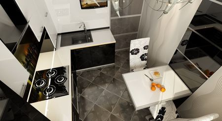 фото кухня для однокомнатной квартиры