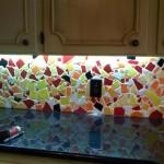 Как сделать панно для кухни: стеклянное или керамическое