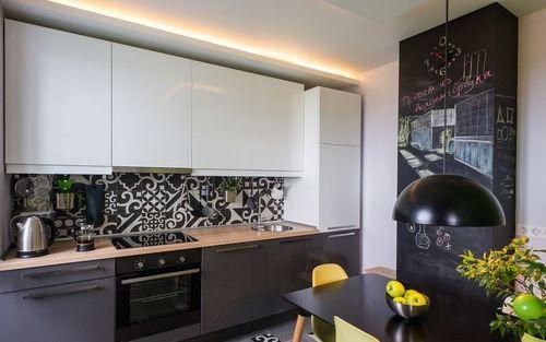 Кухня темный низ светлый верх дизайн