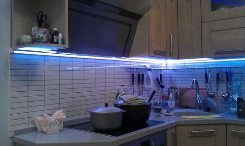 Светодиодная подсветка для кухни рабочей зонКотлы длительного