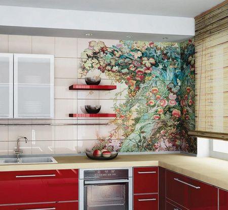 Кафельная плитка в кухне своими руками