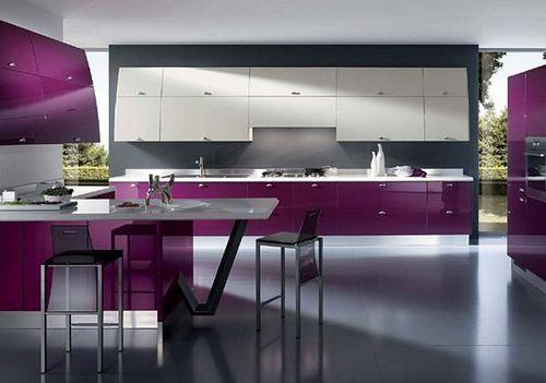 кухни фото двухцветные