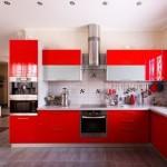 Идеи современной кухни цвета бордо
