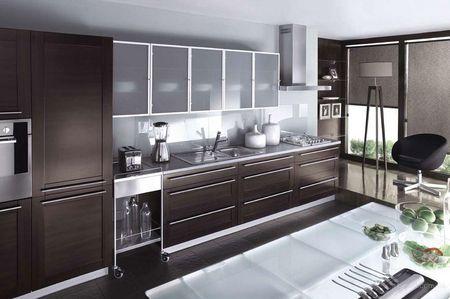 Алюминиевый фасад для кухни