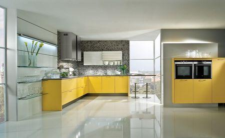 Дизайн пола кухни