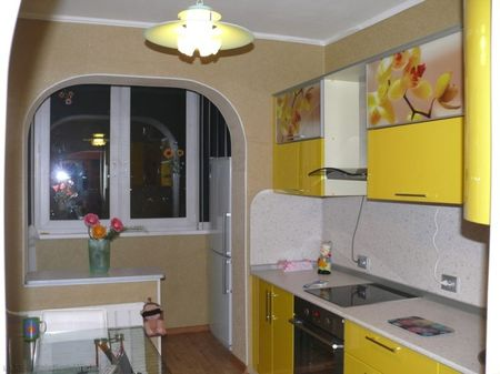 Евроремонт в кухне с балконом
